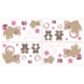Sweet JoJo Designs Teddy Bear Pink Wall Decals
