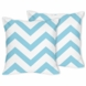 Sweet JoJo Designs Turquoise & White Chevron Decorative Throw Pillows - Set of 2
