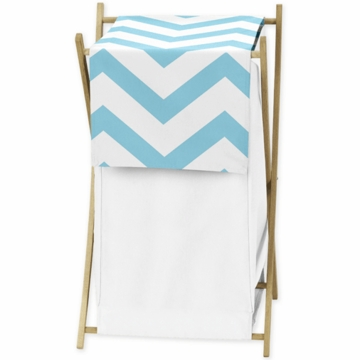 Sweet JoJo Designs Turquoise & White Chevron Hamper