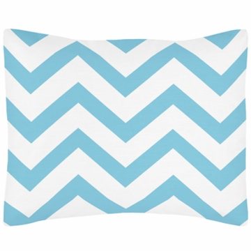 Sweet JoJo Designs Turquoise & White Chevron Pillow Sham