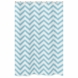 Sweet JoJo Designs Turquoise & White Chevron Shower Curtain