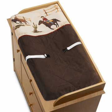 Sweet JoJo Designs Wild West Cowboy Changing Pad Cover