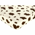 Sweet JoJo Designs Wild West Cowboy Crib Sheet - Cow Print