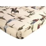 Sweet JoJo Designs Wild West Cowboy Crib Sheet - Cowboy Print