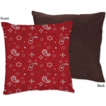 Sweet JoJo Designs Wild West Cowboy Decorative Throw Pillow - Bandana Print