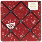 Sweet JoJo Designs Wild West Cowboy Fabric Memo Board - Bandana Print