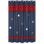 Sweet JoJo Designs Wild West Cowboy Shower Curtain - Denim