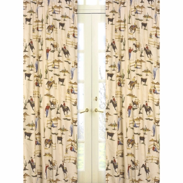Sweet JoJo Designs Wild West Cowboy Window Panels in Cowboy Print - Set of 2