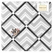 Sweet JoJo Designs Zig Zag Black & Grey Chevron Fabric Memo Board
