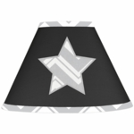 Sweet JoJo Designs Zig Zag Black & Grey Chevron Lamp Shade