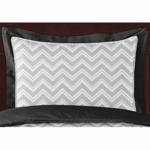 Sweet JoJo Designs Zig Zag Black & Grey Chevron Pillow Sham