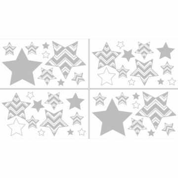 Sweet JoJo Designs Zig Zag Black & Grey Chevron Wall Decals