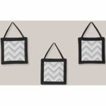 Sweet JoJo Designs Zig Zag Black & Grey Chevron Wall Hangings