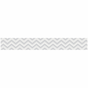 Sweet JoJo Designs Zig Zag Black & Grey Chevron Wallpaper Border