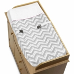 Sweet JoJo Designs Zig Zag Pink & Grey Chevron Changing Pad Cover