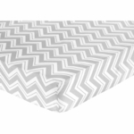Sweet JoJo Designs Zig Zag Pink & Grey Chevron Crib Sheet - Zig Zag