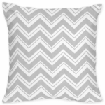 Sweet JoJo Designs Zig Zag Pink & Grey Chevron Decorative Throw Pillow