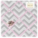 Sweet JoJo Designs Zig Zag Pink & Grey Chevron Fabric Memo Board