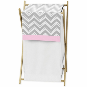 Sweet JoJo Designs Zig Zag Pink & Grey Chevron Hamper