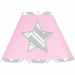 Sweet JoJo Designs Zig Zag Pink & Grey Chevron Lamp Shade