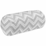 Sweet JoJo Designs Zig Zag Pink & Grey Chevron Neckroll Pillow