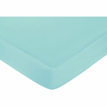 Sweet JoJo Designs Zig Zag Turquoise & Grey Chevron Crib Sheet in Turquoise