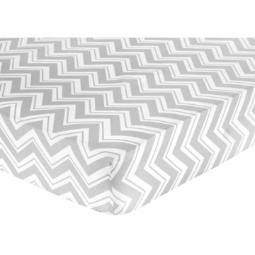 Sweet JoJo Designs Zig Zag Turquoise & Grey Chevron Crib Sheet - Zig Zag