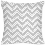 Sweet JoJo Designs Zig Zag Turquoise & Grey Chevron Decorative Throw Pillow