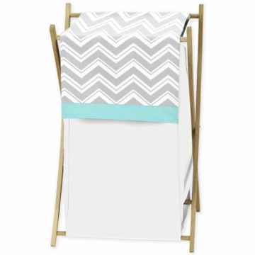 Sweet JoJo Designs Zig Zag Turquoise & Grey Chevron Hamper