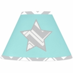 Sweet JoJo Designs Zig Zag Turquoise & Grey Chevron Lamp Shade