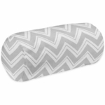 Sweet JoJo Designs Zig Zag Turquoise & Grey Chevron Neckroll Pillow