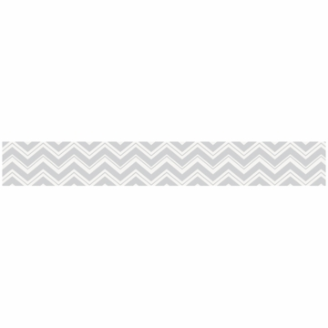 Sweet JoJo Designs Zig Zag Turquoise & Grey Chevron Wallpaper Border