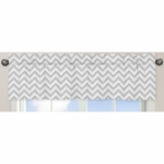 Sweet JoJo Designs Zig Zag Turquoise & Grey Chevron Window Valance
