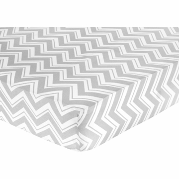 Sweet JoJo Designs Zig Zag Yellow & Grey Chevron Crib Sheet - Zig Zag