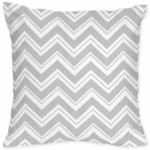 Sweet JoJo Designs Zig Zag Yellow & Grey Chevron Decorative Throw Pillow