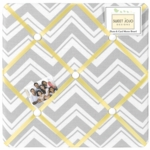 Sweet JoJo Designs Zig Zag Yellow & Grey Chevron Fabric Memo Board