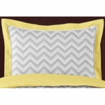Sweet JoJo Designs Zig Zag Yellow & Grey Chevron Pillow Sham