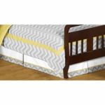 Sweet JoJo Designs Zig Zag Yellow & Grey Chevron Toddler Bed Skirt