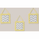 Sweet JoJo Designs Zig Zag Yellow & Grey Chevron Wall Hangings