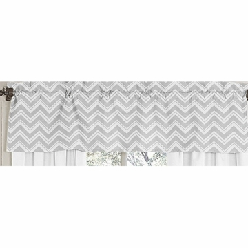 Sweet JoJo Designs Zig Zag Yellow & Grey Chevron Window Valance