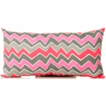 Sweet Potato Addison Throw Pillow in Rectangle Zig Zag Stripe
