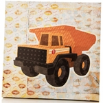 Sweet Potato Dump Truck Canvas Wall Art