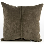 Sweet Potato Echo Throw Pillow - Brown Velvet