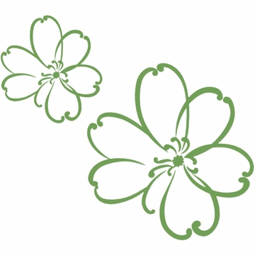 Sweet Potato LuLu Wall Decals - Green (Set of 2)