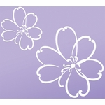 Sweet Potato LuLu Wall Decals - White (Set of 2)