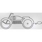 Sweet Potato Uptown Traffic Wall Decal - Motorbike