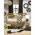 Sweet Potato Urban Cowboy 3 Piece Crib Bedding Set