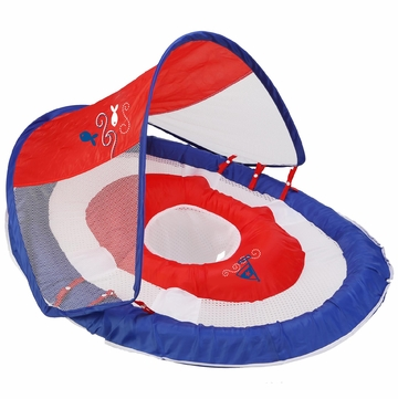 SwimWays Baby Spring Float with Canopy - Blue