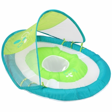 SwimWays Baby Spring Float with Canopy - Green