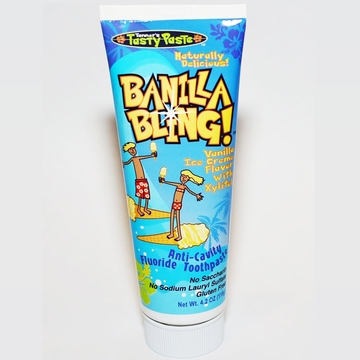 Tanner's Tasty Paste Tooth Paste in Banilla Bling